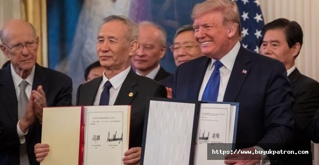 ABD ve Çin 'birinci faz'ı imzaladı