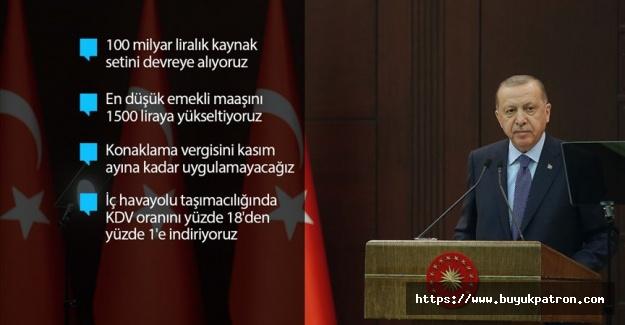 Cumhurbaşkanı Erdoğan Ekonomik İstikrar Kalkanı paketini açıkladı