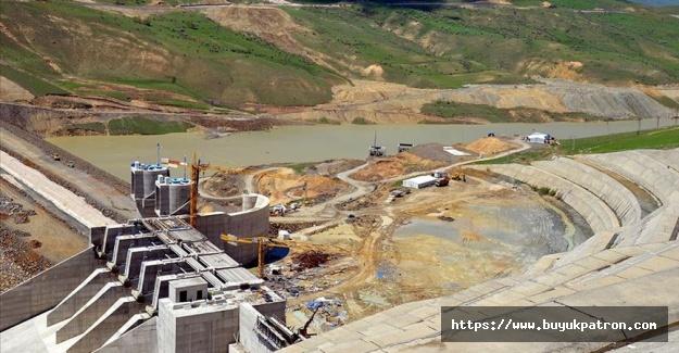 Su tutmaya başlayan Alparslan 2 Barajı enerji üretimine hazırlanıyor