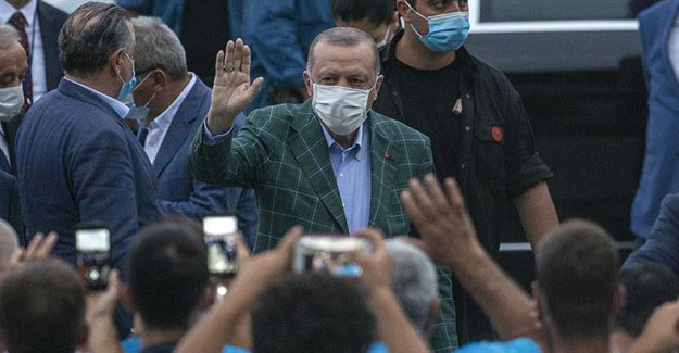 Erdoğan Rize-Artvin Havalimanı inşaatında incelemelerde bulundu