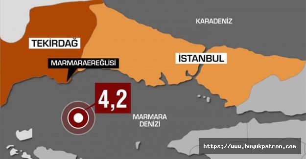 Son dakika: İstanbul'da 4.2 büyüklüğünde deprem meydana geldi..