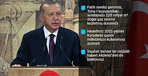 Cumhurbaşkanı Erdoğan: Türkiye, tarihinin en büyük doğal gaz keşfini Karadeniz'de gerçekleştirdi
